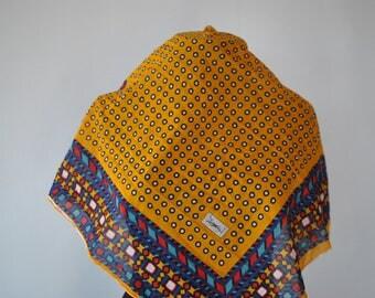 Vintage YSL PRINTED cotton scarf ..........(323)