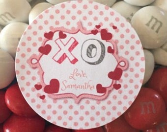 12 - Personalized Valentine Themed Tags/Labels for Favors