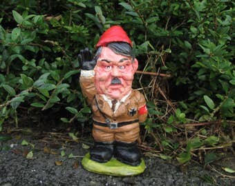 Beautiful Adolf Hitler Garden Gnome Politically Incorrect Caricature Figure.... Bad  Taste Gift Item