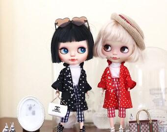 Polkadot set* / Set of 3 Pcs / Doll clothes for Neo Blythe , Pullip ,Licca dolls.