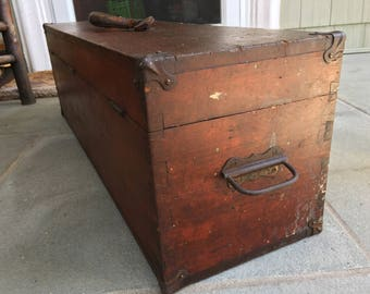 wooden tool box etsy. antique wood railroad tool chest - machinist beautiful condition wooden box etsy i