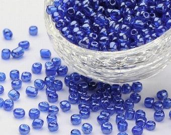 6/0 Denim Blue Lustered Seed Beads