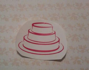 Bakery Cake Decal/ Cake For Bakery Decal/Cake Decal/Bakery Decal/Bakery Window Decals/ Cake Shop Decal/ Wedding Decals/ Wedding Cake Decal