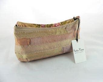 Clutch Bag, Silk Purse, Bridesmaid Clutch, Peach Clutch, Floral Purse, Evening Bag