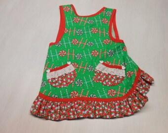 Girls Christmas Slip on Apron fits 2 - 4 years