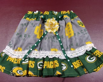 Girl's Skirt Size Newborn to 5T NFL Green Bay Packers Skirt