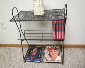 Metal Magazine Stand , Magazine End table, book stand table,magazine rack , book rack, Mid century furniture