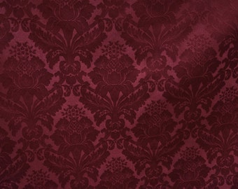 Damask Poly in Burgundy - Ideal for Events, Parties & Home Decor