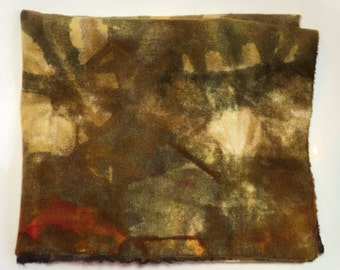 Tree Bark Hand Dyed New Wool Fabric, Rug Hooking, Penny Rugs