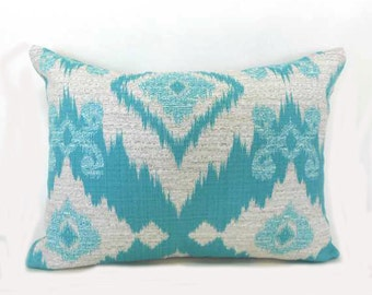 Pillow Pillows Cover Outdoor Indoor - Blue Santaeo Pool Aztec Native Tribal Throw pillow Accent Decor Patio 14x14, 12x18