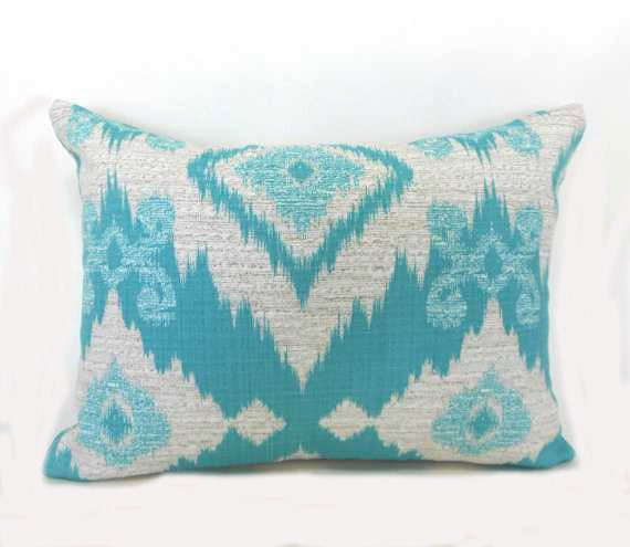 Pillow Pillows Cover Outdoor Indoor - Blue Santaeo Pool Aztec Native Tribal Throw pillow Accent ...
