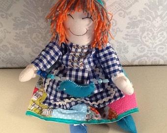 Rag doll,traditional rag doll, cloth doll, heirloom doll