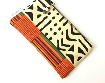 Zipper pouch, Zippered pouch, ethnic purse, Wristlet purse, African zipper pouch, coin purse, zipper coin purse, tribal pouch, ethnic pouch