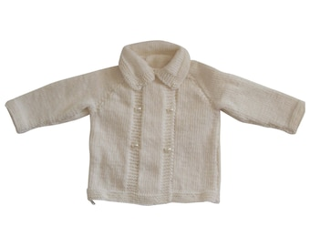 Luxury hand knit coat for babies