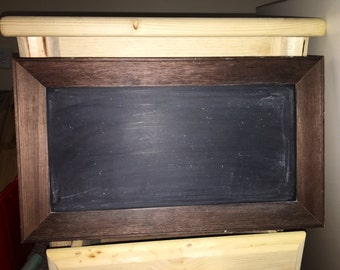 Wood framed chalkboard  pre-seasoned