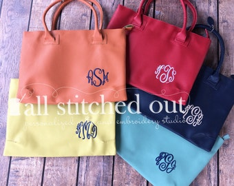 Monogrammed Charleston Purse - Corner Monogram - Monogrammed Tote - Personalized bag - Monogrammed Shoulder bag - Personalized tote bag