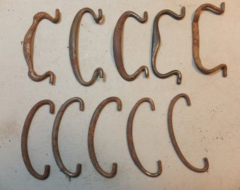 Vintage Rusty Crusty Drawer Handles, Supplies, Assemblage Creations
