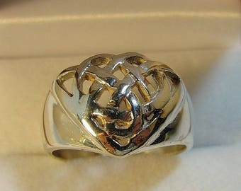 Celtic Trinity Knot, Vintage Sterling Silver Ring, Genuine Sterling Silver 925, Size 8.75, Exquisite Detail, One of a Kind