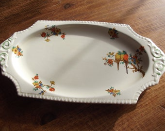 Sandwich platter/oval plate 1930s