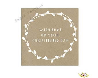 With love on your Christening Day - Kraft