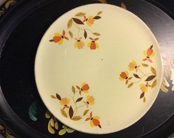 40s Vintage Superior Hall Quality Dinnerware Cake Tea Cookies Serving Dessert Autumn Leaf Garden Holiday Wedding Cake Plate