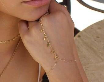 Chain Hand Bracelet   Slave Bracelet   hand chain   Finger Bracelet   hand bracelet   hand jewelry   free peoplet Gold Bracelet