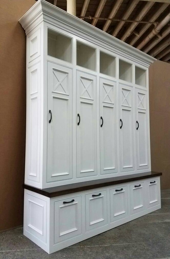 THE ASHEVILLE Mudroom Lockers Storage Bench Cubbies