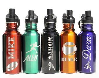 Personalized Water Bottle Kids, Water Bottles Personalized, Personalized Sports Water Bottle, Monogrammed Waterbottle, Stainless Steel