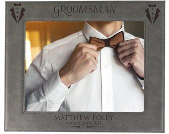 Groomsmen Frame, Best Man Picture Frame, Groomsman Picture Frame, Personalized Groomsmen Frame, Groomsmen Photo Frame