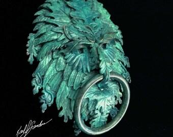 Aquagreen Celtic Greenman Door Knocker