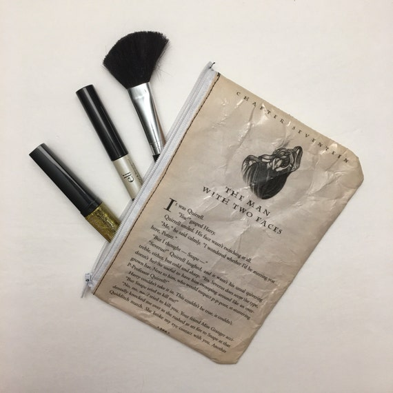 Harry Potter Book Themed Vinyl Pencil or Make-Up Pouch - The Man with Two Faces