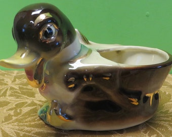 Original 1950's Shawnee Pottery Mallard Duck Planter #720 - Free Shipping