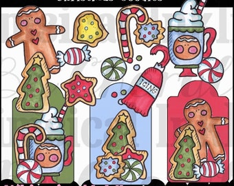 DIGITAL SCRAPBOOKING CLIPART - Christmas Goodies