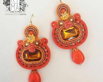 Soutache Earrings handmade in Italy by KIMA - Cheap & Chic