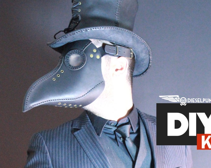 Plague Doctor Mask KIT - DIY Leather - Halloween Mask DIY