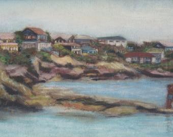 Good Harbor Beach, Gloucester, Cape Ann, Massachusetts, original pastel painting by Pamela Parsons impressionism, beach, ocean, seashore
