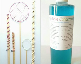 Mega Party Package. 5 of our bubble wands and 1 -16 oz. Bubble Concentrate for 1 Great Price. Combo pack, Huge Bubbles, Bubble Wands.