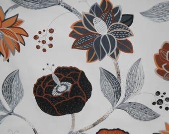 Kitchen towel, Floral Leaf ornament tea towel, Cotton towel, Tea towel, 18'x28' (45X70 cm), dish towel, Floral Leaf pattern kitchen towel