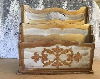Florentine Desk Caddy Letter Holder