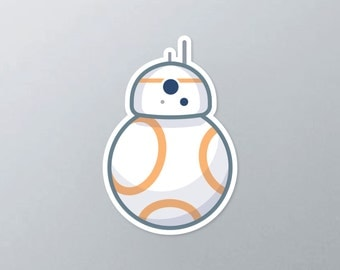 Star Wars inspired BB8 vinyl sticker
