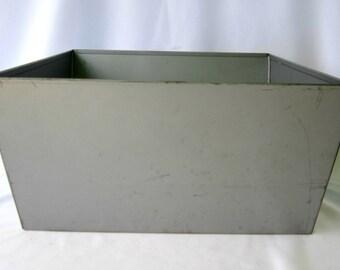 Metal Bin Industrial Storage Vintage Laundry Organization Curmanco Made in USA