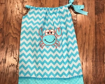Pillowcase Dress, Beach Theme Dress, Cute Pillowcase dress, Cute girls dress