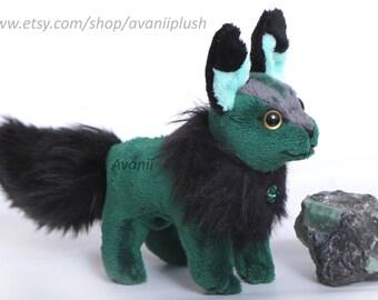 Emerald Beanie Plush Fox