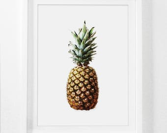 Pineapple Print, Pineapple Art, Ananas, Pineapple Prints, Greenery, 18x24 Print, 18x24 Poster, 8x10 Print, 8x10 Art Print, 11x14 Print