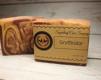 Gryffindor Inspired Artisan Handcrafted Vegan Soap by Sugarloaf Cove