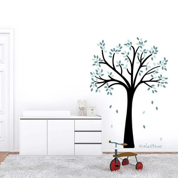Arbol decorativo pared vinilo decorativo little tree - Vinilo decorativo arbol ...