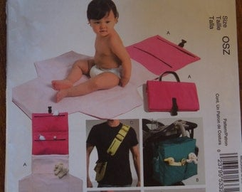 McCalls M5339, diaper bags and changing kit, UNCUT sewing pattern, craft supplies, infants