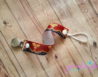 Pacifier Holder- Wonderwoman