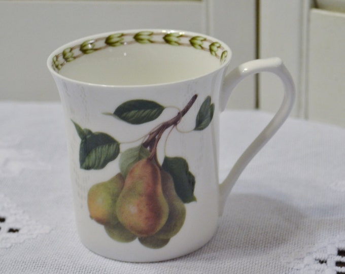 Vintage Queens Hookers Fruit Mug Cup Pear Blossom Royal Horticultural Society India PanchosPorch