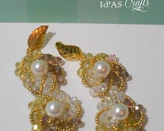 Double pearl  dangling earrings